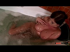 thumb gorgeous bus ty nympho gets that big black cock in the tub