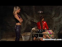 Young Lesbian Girl Gets her Hot Body Whipped By...