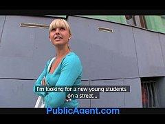 PublicAgent Beautiful blonde fucks me in my car