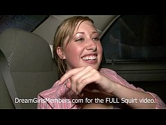 Blonde Club Hookup Squirts All Over The Back Se...