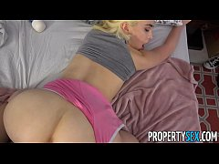PropertySex - Jobless blonde teen busts her roo...