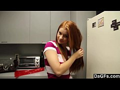 Redheaded Teen Gives Perfect Blowjob