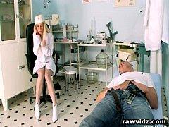 Horny Nurse Rides Her Patient's Cock