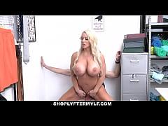 Blonde bustylicious MILF thief Alura Jenson got...