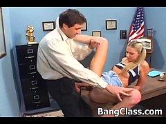 Schoolgirl gets dirty in the classroom