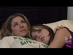Lesbian babe Amber Chase seducing Kayla Paige