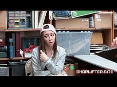 Horny Shoplifting Girl Needs Help