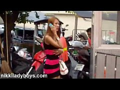Walking street with Ladyboys working in Nana Plaza Bangkok