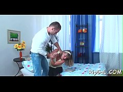 Stunning doxy is feeling strong orgasms from ni...