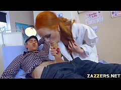 Dentist Ella Hughes spread her red bush for Dan...