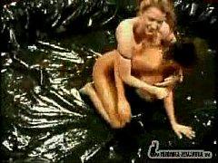 Veronica Zemanova And Sydney Moon - Oil Wrestli...