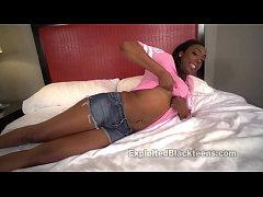 Ebony College girl gets Big Facial in Black Gir...