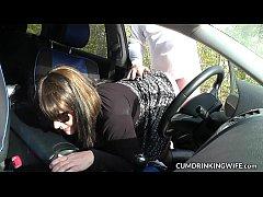 The car sex escapades of a very naughty slutwife