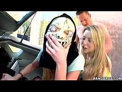 Orgy in a car