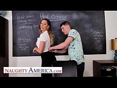 Naughty America - Cherie DeVille fucks student ...