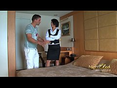 Tricking room maid into fucking me