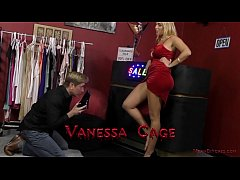 Hot Blonde Dominates a Customer In the Store - ...