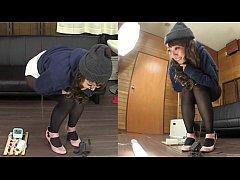 Subtitled amateur Japanese pee desperation fail...