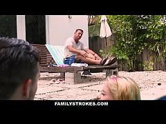 FamilyStrokes - Cute Teen Blonde Teases Cousin ...