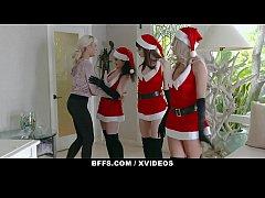 BFFS - Lesbian Friends Seduce Straight Girl Int...