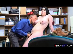 Lying chubby teen thief trades her pussy for fr...