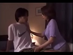 40yr Old Japanese Milf gets Cum from Son
