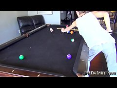 Gay french kissing and fucking xxx Pool Cues And Balls At The Ready