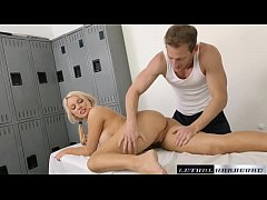 Kenzie begs for a load of her stepbrothers cum