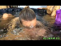 Group hot eurobabes in one tub