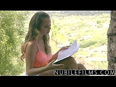 NubileFilms - College babes give messy blowjob
