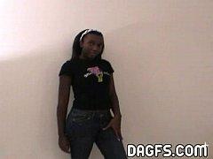 Danielle Luv ebony teen tryout