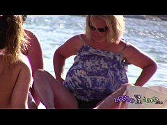 Worzel Gummidge GILF loves the topless beach