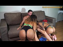 Two Big Ass Brazilian Sisters Get Fucked By A W...