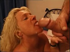 Filth blonde milf unleashed at the sight of a y...
