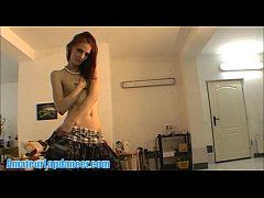 Lapdance and strip by skinny czech brunette