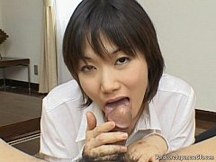 Alluring And Kinky Japanese Cutie Giving Head S...