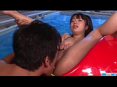 Superb fuck by the pool with Hazuki Okita  - Mo...
