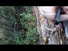 thumb blowjob in the  forest