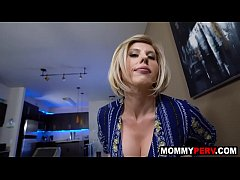 Hot step mom takes care of broken hearted son -...