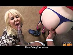 Sexy mom gets a creamy facial after getting pou...