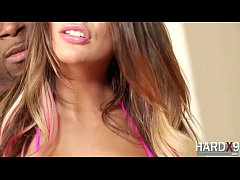 Sexy big tits August Ames in Interracial hardco...