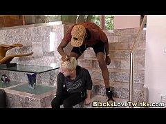 Jizz faced twink black