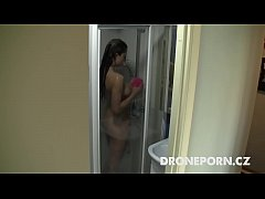 Czech teen Lenka. Hidden spy camera in the show...