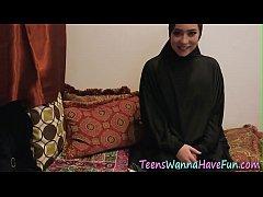 Real teens in hijabs ride big black cock