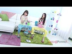 Barely legal teens Luna Rival & Rebecca Volpett...