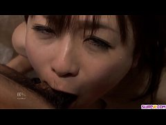Nozomi Hazuki ends masive porn play with cum on...