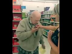 Slut fingers herself on walmart and lets strang...