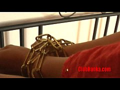 thumb hot blonde milf  chained