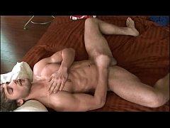 Gorgeous man masturbating his big cock