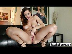 Naturally stacked cutie Natasha Nice stuffs her...